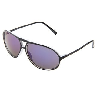 Izod Unisex IZ 355 14 Black And White Plastic Aviator Sunglasses