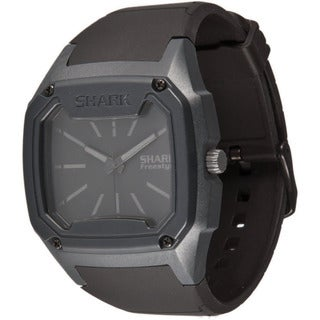 Freestyle Men's Shark Black Silicone Quartz Black Dial Watch