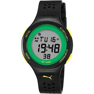 Puma Men's Active PU910931001 Black Rubber Quartz Watch with Digital Dial