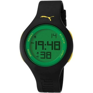 Puma Men's 'Active' Black Digital Dial Watch