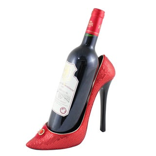 Jacki Design Classic Red High Heel Wine Bottle Holder