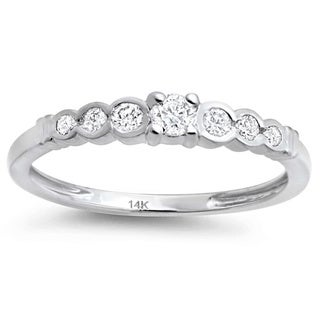14k White Gold 1/4ct TDW Diamond Wedding Band (H-I, I1-I2)