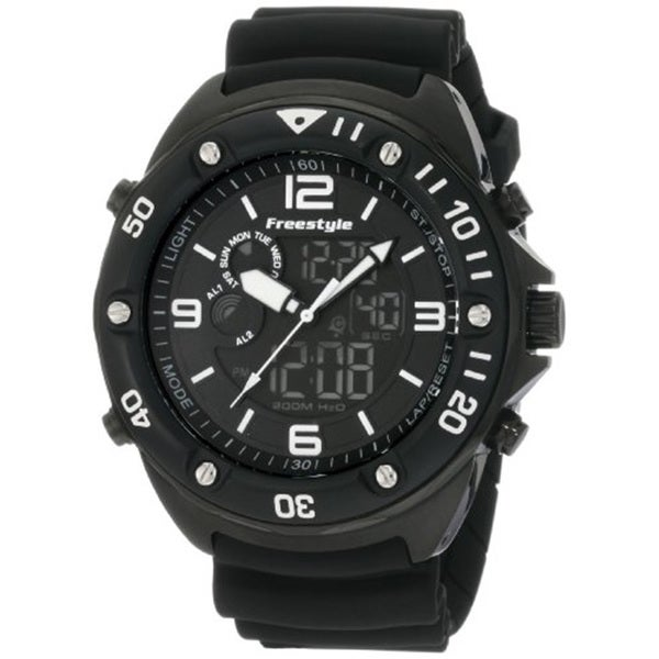 Freestyle Men's Dive Black Analog/ Digital Watch