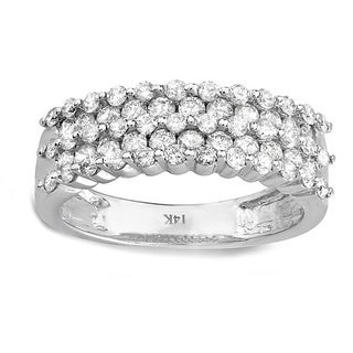 14k White Gold 1ct TDW Diamond Anniversary Ring (H-I, I1-I2)