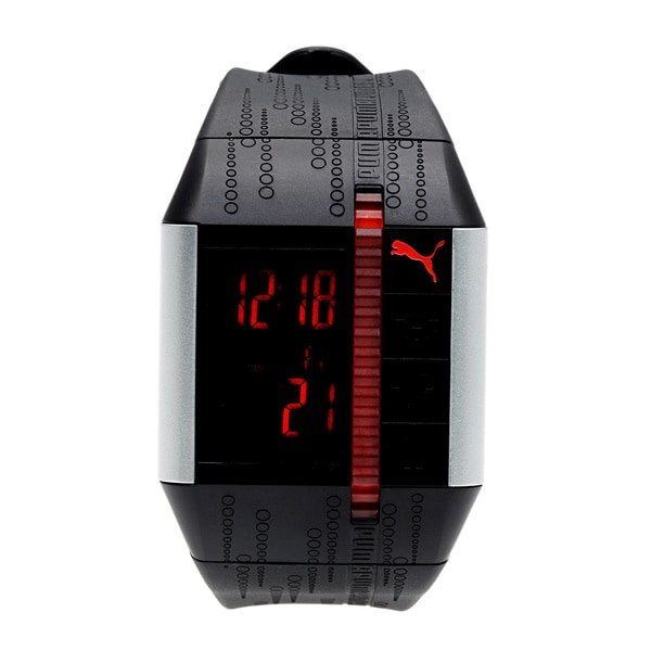 Puma Active PU910501001 Black Polyurethane Quartz Watch with Digital Dial