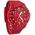 Swatch Men's Originals Red Silicone Swiss Quartz Watch