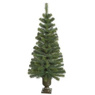 4' Noble Pine Potted Artificial Christmas Tree - Unlit