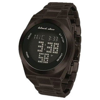 Black Dice Men's Guru BD-061-02 Black Stainless-Steel Quartz Watch with Digital Dial