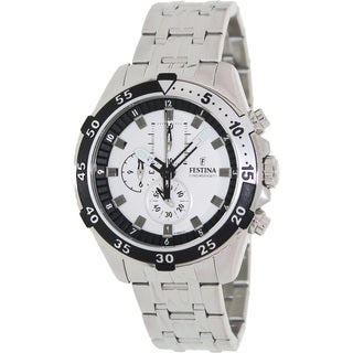 Festina Men's 'Crono' Stainless Steel Chronograph Watch