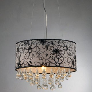 Dione Chrome Floral Shade Chandelier