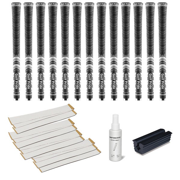 Golf Pride MCC Black - 13pc Grip Kit (with tape, solvent, vise clamp)