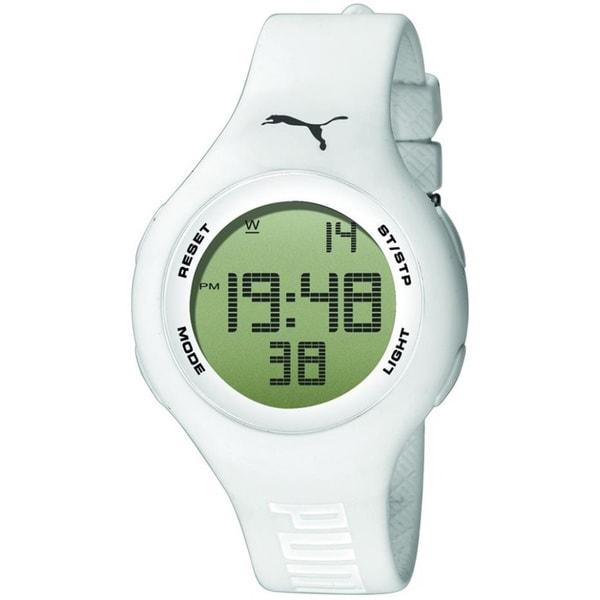 Puma Men's 'Active' White Digital Watch