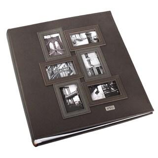 Kleer Vu Black Leatherette 3D Collage Bookbound 400-Photo Memo Page 4 x 6 Album