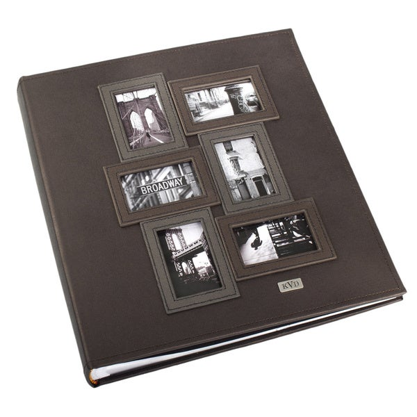 Kleer Vu Black Leatherette 3D Collage Bookbound 400-Photo Memo Page 4 x 6 Album