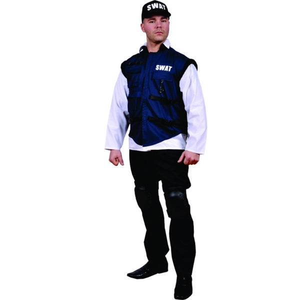 Men's SWAT Team Officer Costume (One size)