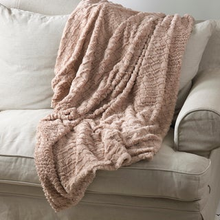 Natural Plush 50 x 60 Throw