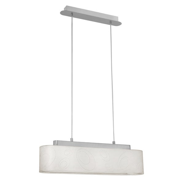 EGLO Cream Fabric Linear Shade Pendant