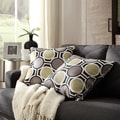 Kayla Polka-dot Print Fabric Square Throw Pillows (Set of 2)