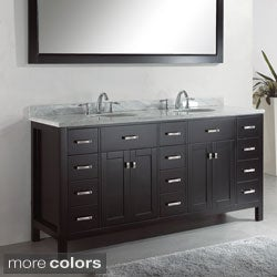 Virtu USA Caroline Parkway 72-inch Double Sink Bathroom Vanity Set
