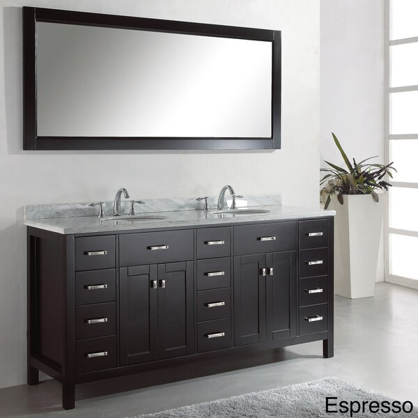 Virtu Usa Caroline Parkway 72 Inch Double Sink Bathroom Vanity Set 15566728