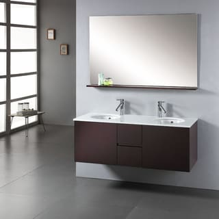 Virtu USA Matteo 51-inch Double Sink Bathroom Vanity Set
