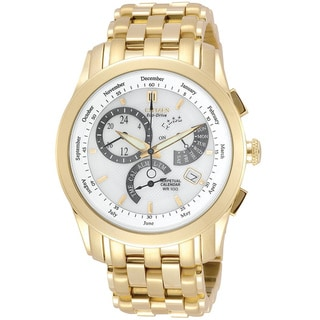 Citizen Men's 'Calibre 8700' Goldtone Eco-Drive Watch