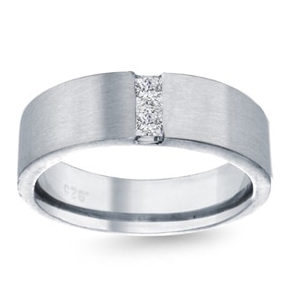 14k White Gold 1/4ct TDW Men's Diamond Wedding Band (G-H, SI1-SI2)