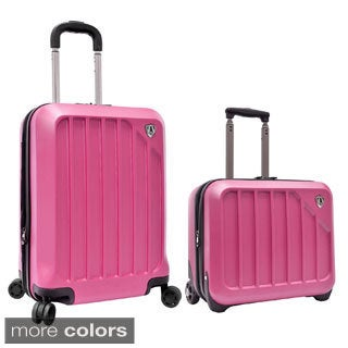 Traveler's Choice Glacier 2-piece Expandable Carry On Hardside Luggage Set