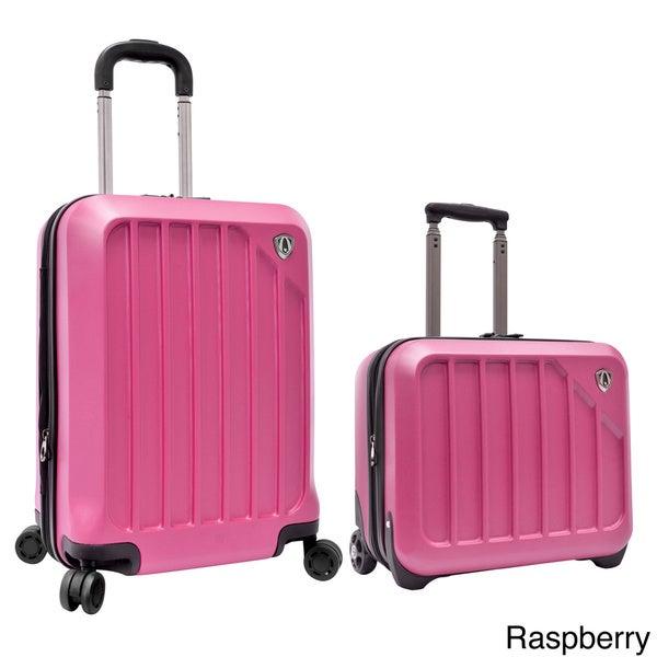 Traveler's Choice Glacier 2-piece Expandable Carry On Hardside Luggage Set