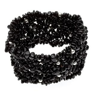 7-inch Black Tourmaline Stretch Bracelet