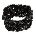 7-inch Black Tourmaline Stretch Bracelet