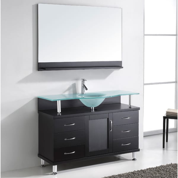 Virtu USA Vincente 48 Inch Single Sink Bathroom Vanity Set 15567047 Overs