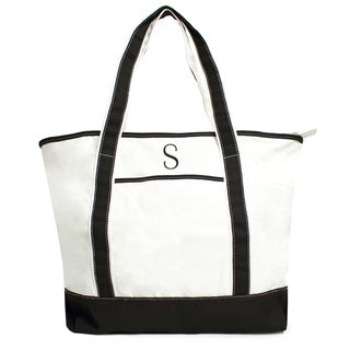 Cathy's Concepts Single Initial Monogrammed Weekender Tote Bag
