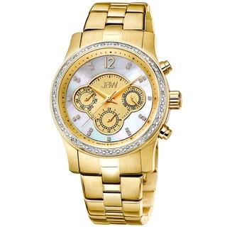 JBW Women's 'Nova' Diamond Stainless Steel Swiss Quartz Watch