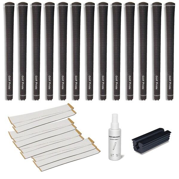Golf Pride Tour Velvet 0.600 Ribbed - 13pc Grip Kit (with tape, solvent, vise clamp) 11529790