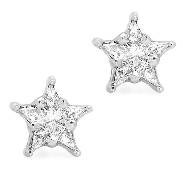 Star Shaped Gold Earrings Star Shaped Earrings G-h
