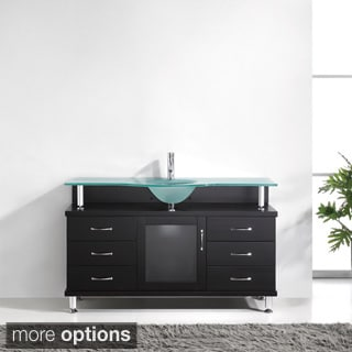 Virtu USA Vincente 55-inch Single Sink Bathroom Vanity Set