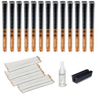 Golf Pride New Decade MCC Orange - 13pc Grip Kit (with tape, solvent, vise clamp)