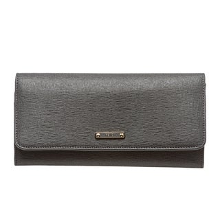 Fendi 'Elite' Grey Vitello Leather Continental Wallet