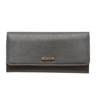 Fendi 'Elite' Grey Vitello Leather Continental Wallet