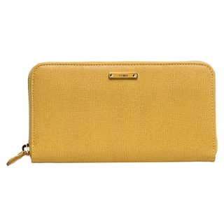 Fendi 'Crayons' Yellow Leather Zip-around Wallet