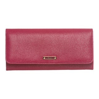 Fendi 'Elite' Raspberry Vitello Leather Continental Wallet