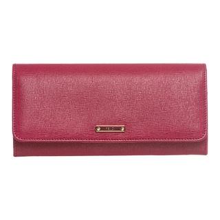 Fendi 'Elite' Raspberry Vitello Leather Continental Wallet