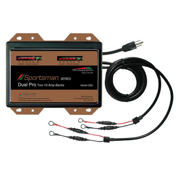 Dual Pro Sportsman Series 2 Bank Charger 10 AMP/Bank SS2