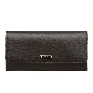 Fendi 'Elite' Black Vitello Leather Continental Wallet