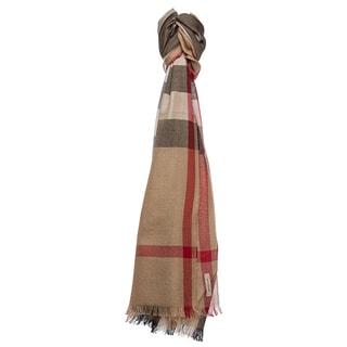 Burberry Camel Check Silk and Cashmere Scarf
