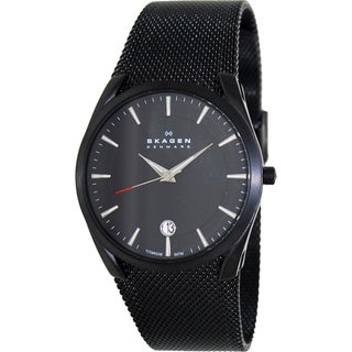 Skagen Men's Black Stainless Steel Watch