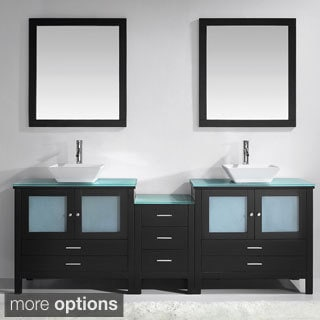 Virtu Brentford 90-inch Double Sink Bathroom Vanity Set