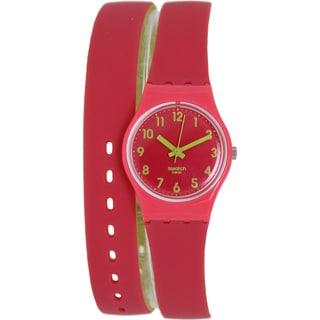Swatch Women's Originals LP131 Two-Tone Rubber Swiss Quartz Watch with Pink Dial