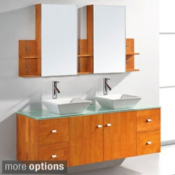 Virtu Clarissa 61-inch Double Sink Bathroom Vanity Set